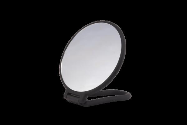 PARSA Beauty Stellspiegel schwarz rund doppelseitig, normal und 3-fach Vergrößerung