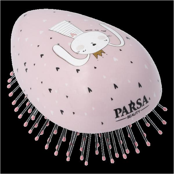 PARSA Beauty Compact Styler Mini Entwirrbürste Kinder Haar Entwirrer Hase