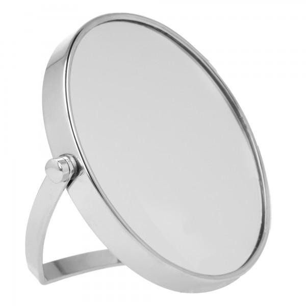 PARSA Beauty Travelspiegel Reisespiegel silber mit 5 fach Vergrößerung