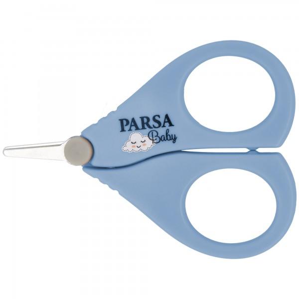 PARSA Baby Nagelschere sicher und präzise mit abgerundeter Spitze in blau