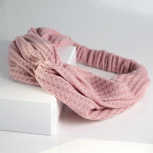 PARSA Beauty Gehäkeltes Haarband in rosa mit romantischen Details