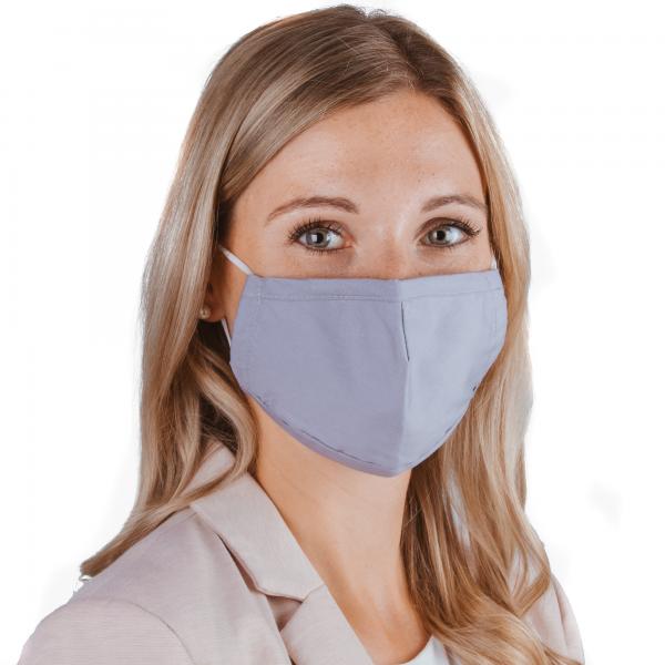 PARSA Beauty Waschbare Mund- und Nasenmaske für Erwachsene Grau/Blau
