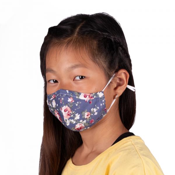 PARSA Beauty Waschbare Mund- und Nasenmaske Kind Print Rosen