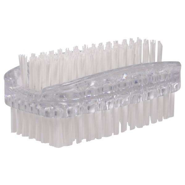 PARSA Beauty doppelseitige Bürste in Transparent Nagelbürste / Handwaschbürste
