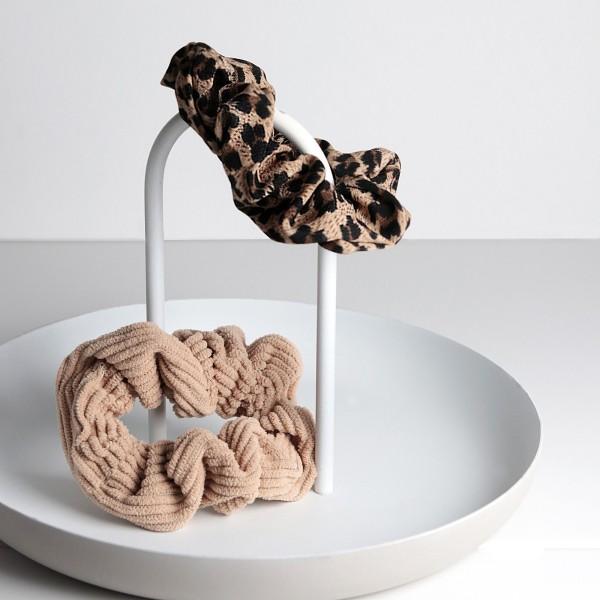 PARSA Beauty Scrunchie Set in Cord- und Leomuster