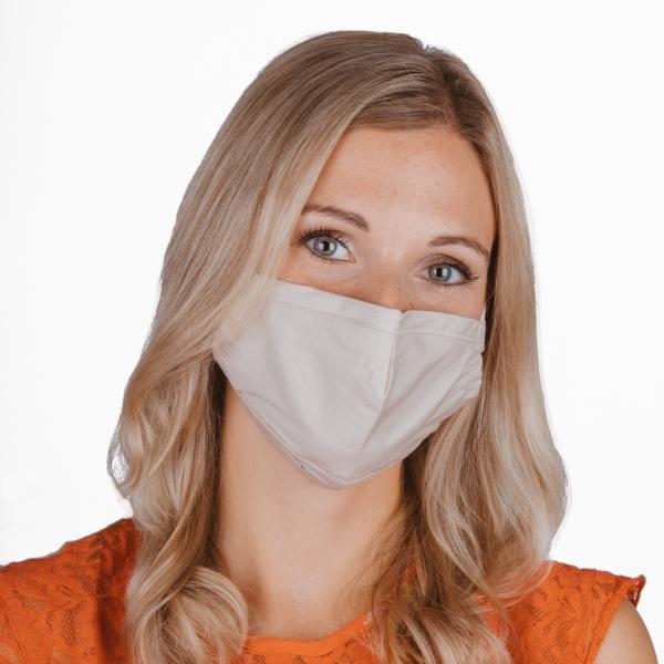 PARSA Beauty Waschbare Mund- und Nasenmaske für Erwachsene Beige