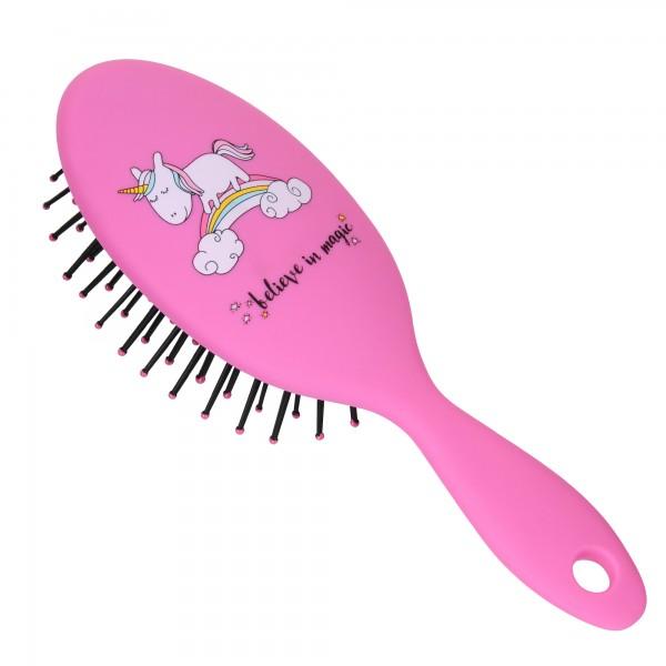 PARSA BEAUTY Kinder-Haarbürste Mini-Styling-Bürste Einhorn Haar-Bürste