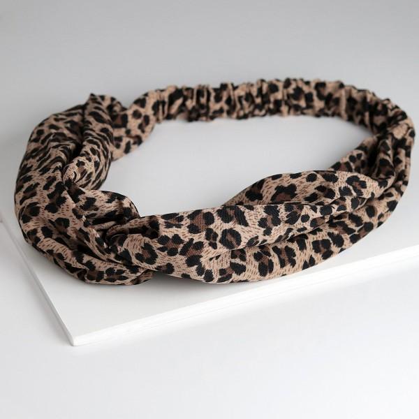 PARSA Beauty Haarband mit Knotendetail in Leoprint