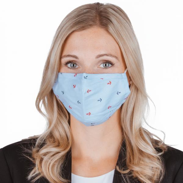 PARSA Beauty Waschbare Mund- und Nasenmaske für Erwachsene Print Anker